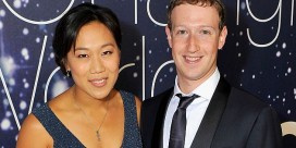 MOUNTAIN VIEW, CA - NOVEMBER 09: Breakthrough Prize Founders Priscilla Chan and Mark Zuckerberg (R) attend the Breakthrough Prize Awards Ceremony Hosted By Seth MacFarlane at NASA Ames Research Center on November 9, 2014 in Mountain View, California.   Steve Jennings/Getty Images for Breakthrough Prize/AFP