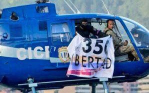 Policías venezolanos roban un helicóptero y atacan el Tribunal Supremo…