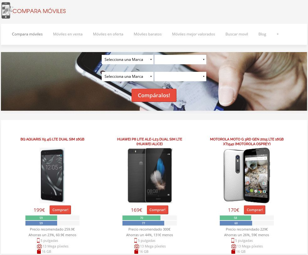 6e421a13a2a ComparaMoviles.es, el comparador de móviles definitivo   Agencia de ...